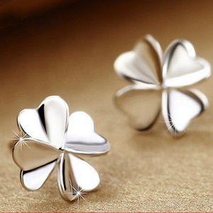 Jewelry - Sterling Silver 4 Leaf Clover Stud Earrings